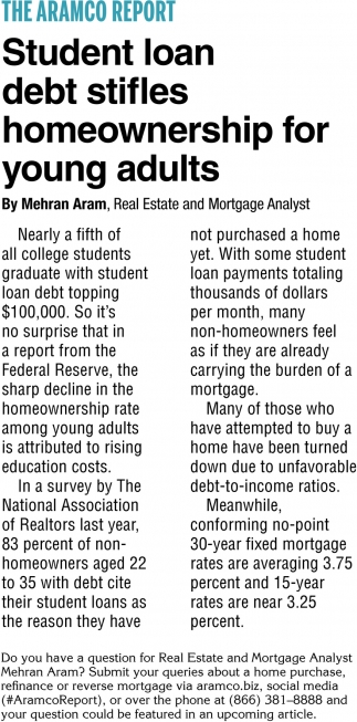 Student Loan Debt Stifles Homeownership for Young Adults