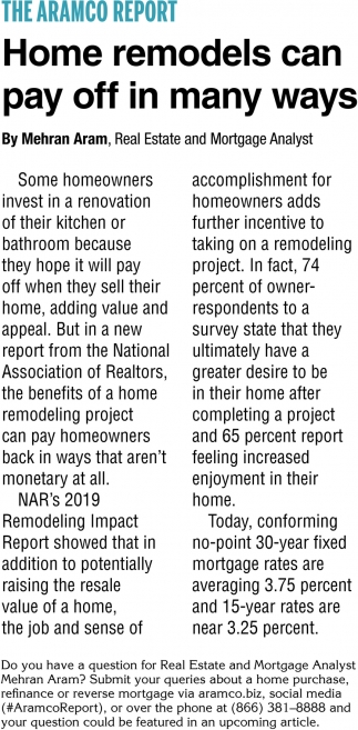 Home Remodels Can Pay OFF in Many Ways
