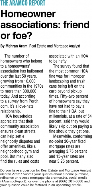 Homeowner Associations: Friend or Foe?