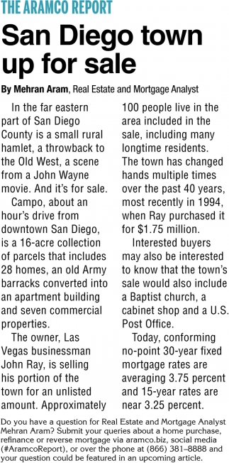 San Diego Town Up for Sale