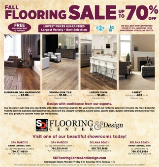 Fall Flooring Sale Up to 70% OFF