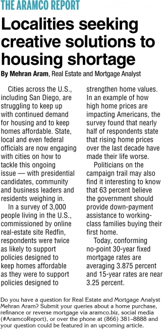 Localities Seeking Creative Solutions to Housing Shortage