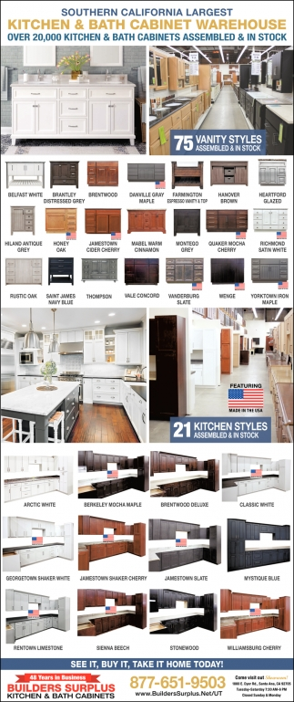 So Cal's Largest Kitchen and Bath Cabinet Warehouse