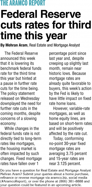 Federal Reserve Cuts Rates