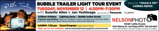 Bubble Trailer Light Tour Event