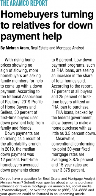 Homebuyers Turning to Relatives for Down Payment Help