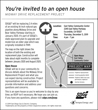 You're Invited to an Open House