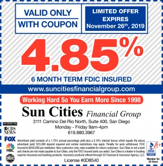 6 Month Term FDIC Insured