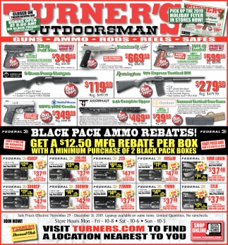 Black Pack Ammo Rebates