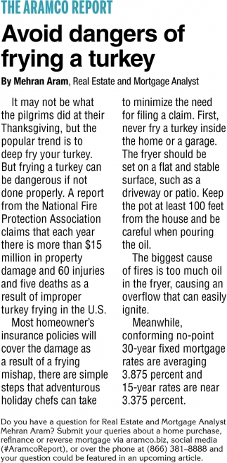 Avoid Dangers of Frying a Turkey