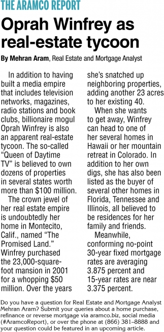 Oprah Winfrey as Real-Estate Tycoon