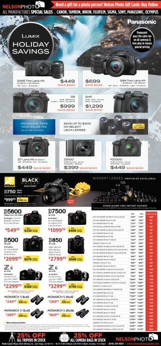 Lumix Holiday Savings