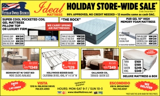 Holiday Store-Wide Sale