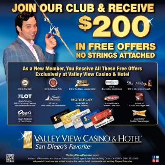 Join Our Club & Receive $200 In Free Offers