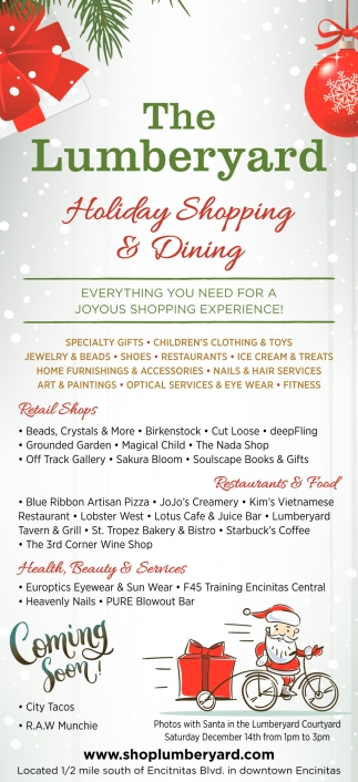 Holiday Shopping & Dining