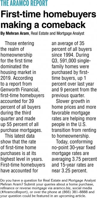 First-Time Homebuyers Making a Comeback