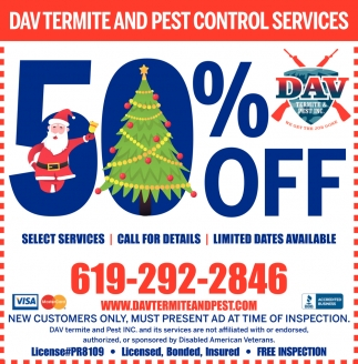 50% OFF Select Services