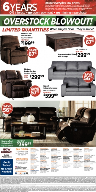 Overstock Blowout!