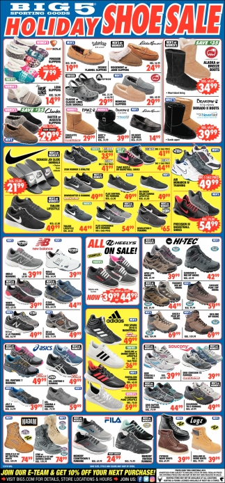 Holiday Shoe Sale
