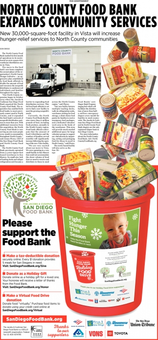 Please Support the Food Bank