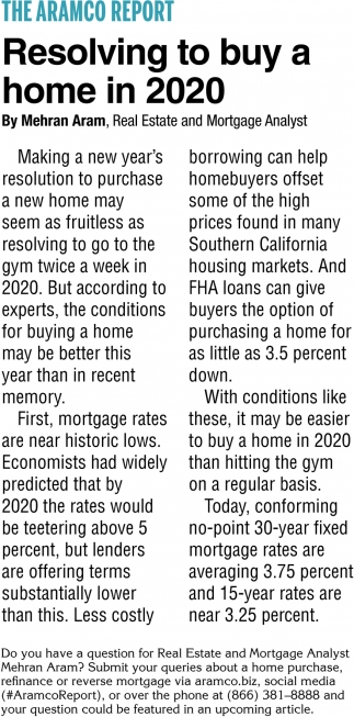 Resolving to Buy a Home in 2020