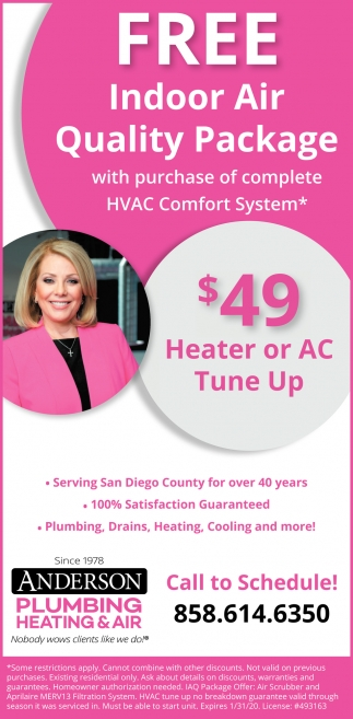 Free Indoor Air Quality Package