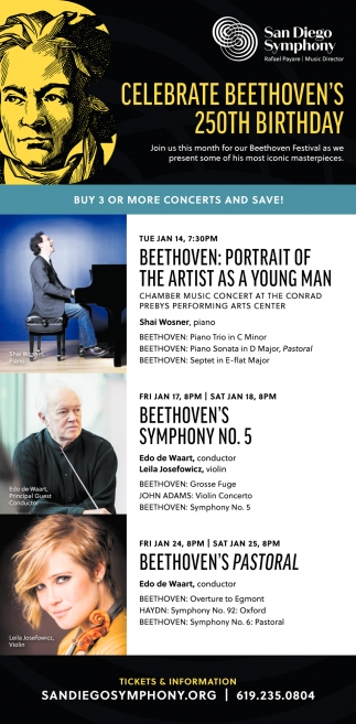 Celebrate Beethoven's 250th Birthday