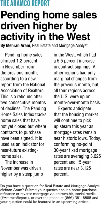 Pending Home Sales Driven Higher by Activity in the West