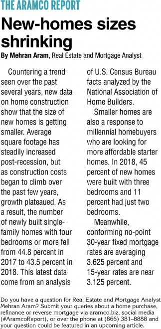 New-Homes Sizes Shrinking