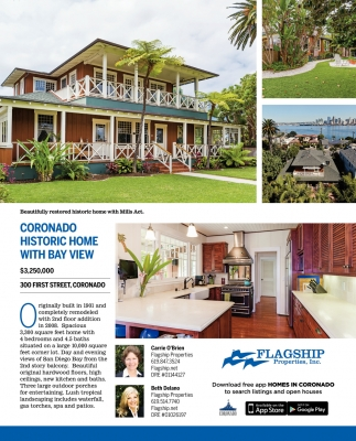 Coronado Historic Home with Bay View