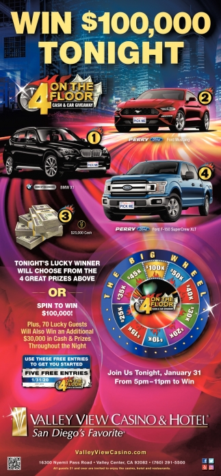 Win $100,000 Tonight