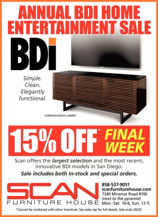 Annual BDI Home Entertainment Sale