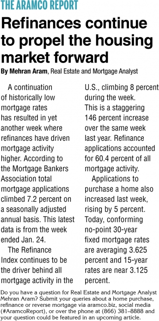 Refinances Continue to Propel the Housing Market Forward