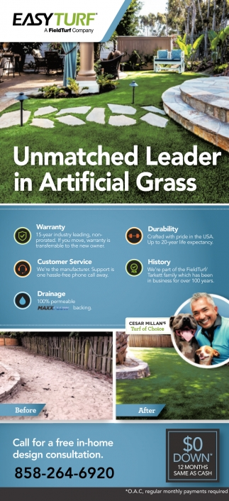 Unmatchet Leader in Artificial Grass