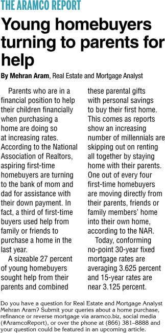 Young Homebuyers Turning to Parents for Help