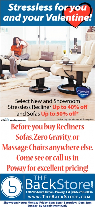 Stressless for You and Your Valentine!