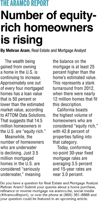 Number of Equity-Rich Homeowners is Rising