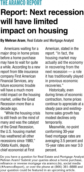 Report: Next Recession Will Have Limited Impact on Housing