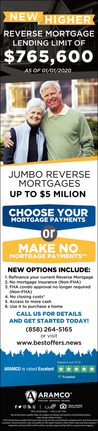 New Higher Reverse Mortgage Lending Limit