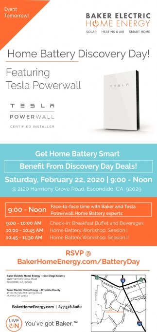 Home Battery Discovery Day!