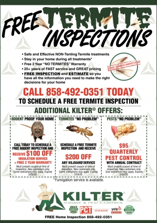 Free Termite Inspections