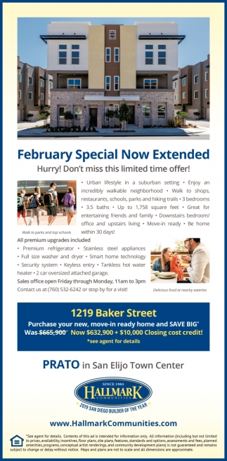 February Special Now Extended