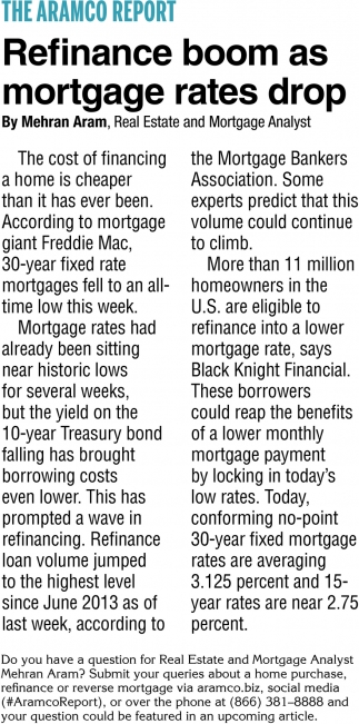 Refinance Boom as Mortgage Rates Drop