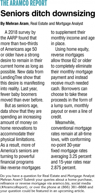 Seniors Ditch Downsizing