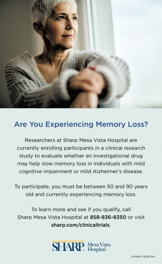 Are You Experiencing Memory Loss?