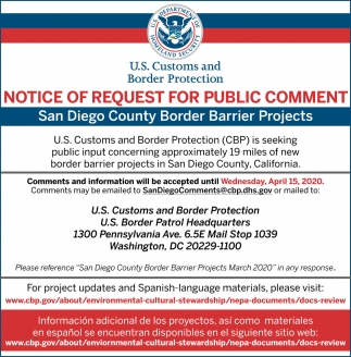 Notice of Request for Public Comment