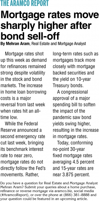 Mortgage Rates Move Sharply Higher After Bond Sell-Off
