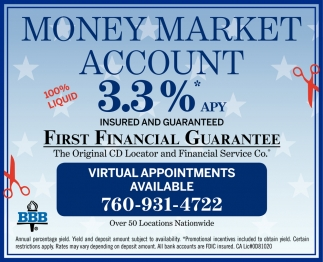 Money Market Account 3.3% APY