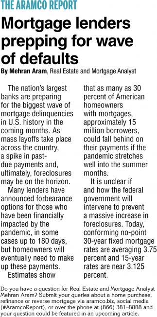 Mortgage Lenders Prepping for Wave of Defaults