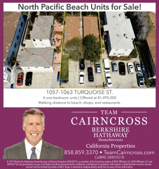 North Pacific Beach Units for Sale!